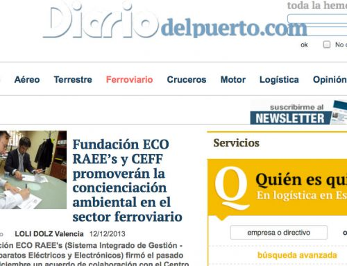 Fundación ECO RAEE's y CEFF promoverán la concienciación ambiental en el sector ferroviario