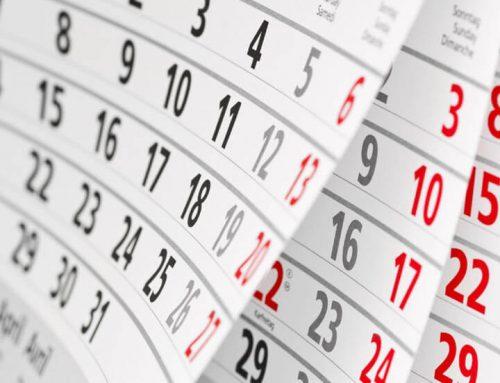 Calendario adaptación al nuevo R.C.F.