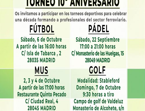 Torneos 10º aniversario C.E.F.F.