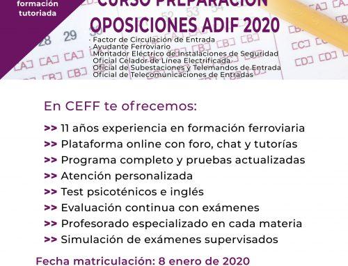 Curso preparación oposiciones ADIF 2020 (online)
