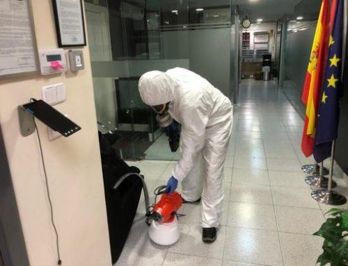 Desinfección y limpieza de nuestras instalaciones